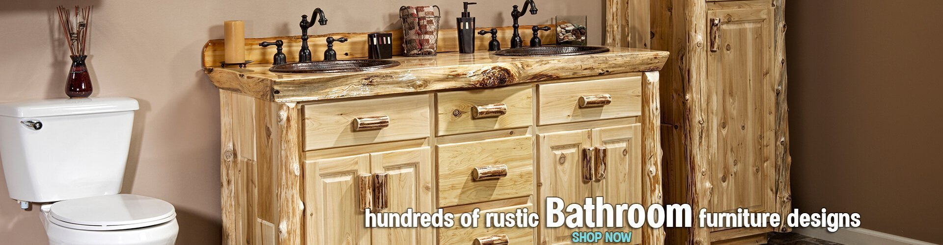 Rustic Bathroom Vanities and Linen Closets