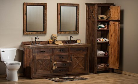 Rustic Log Furniture For Cabin Lodge, Log Furniture Place