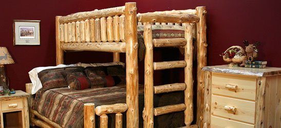 Log Bunk Beds For Kids Adult Cabin Log Bunk Beds Log