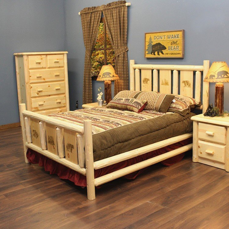 Pine Log Bed Packages