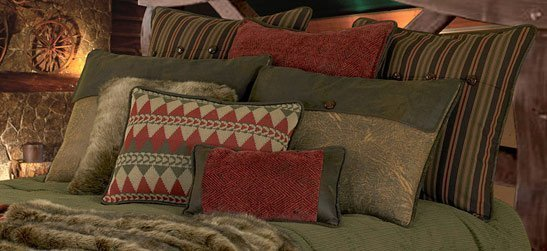 Rustic Style Pillow Shams For Cabin Western Amp Cottage Beds