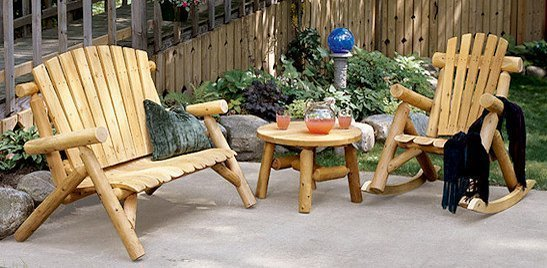 Wood Patio Furniture Rustic Country