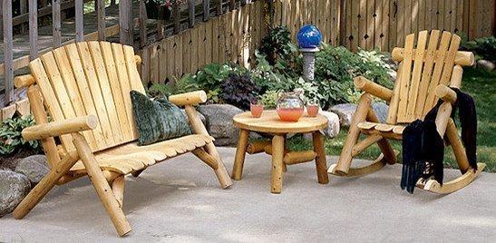 Wood Patio Furniture: Rustic Patio Furniture, Country ...