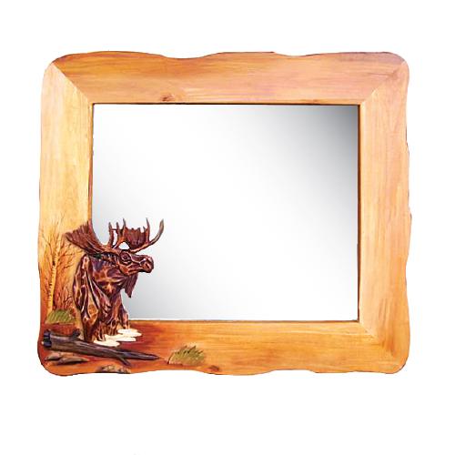 Moose in Lake Mirror