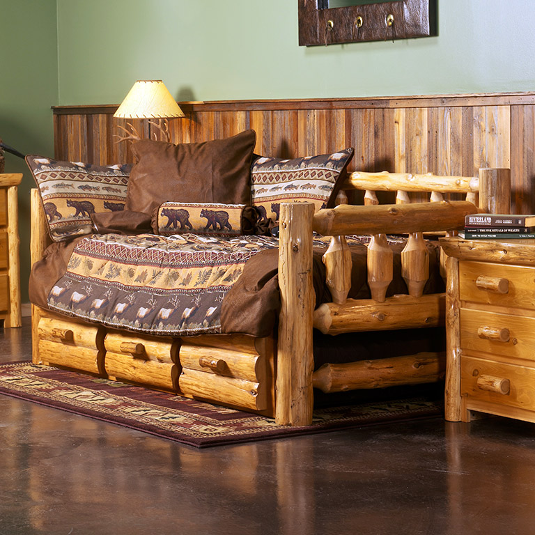 - Cedar Log Daybed Made With Rustic Hand Peeled Logs