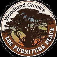Hickory Log Glider Hoop Chair - Bear Mountain Backrest Fabric