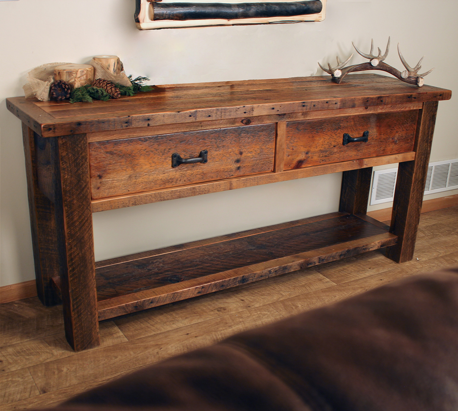 Old Sawmill Timber Frame Sofa Table