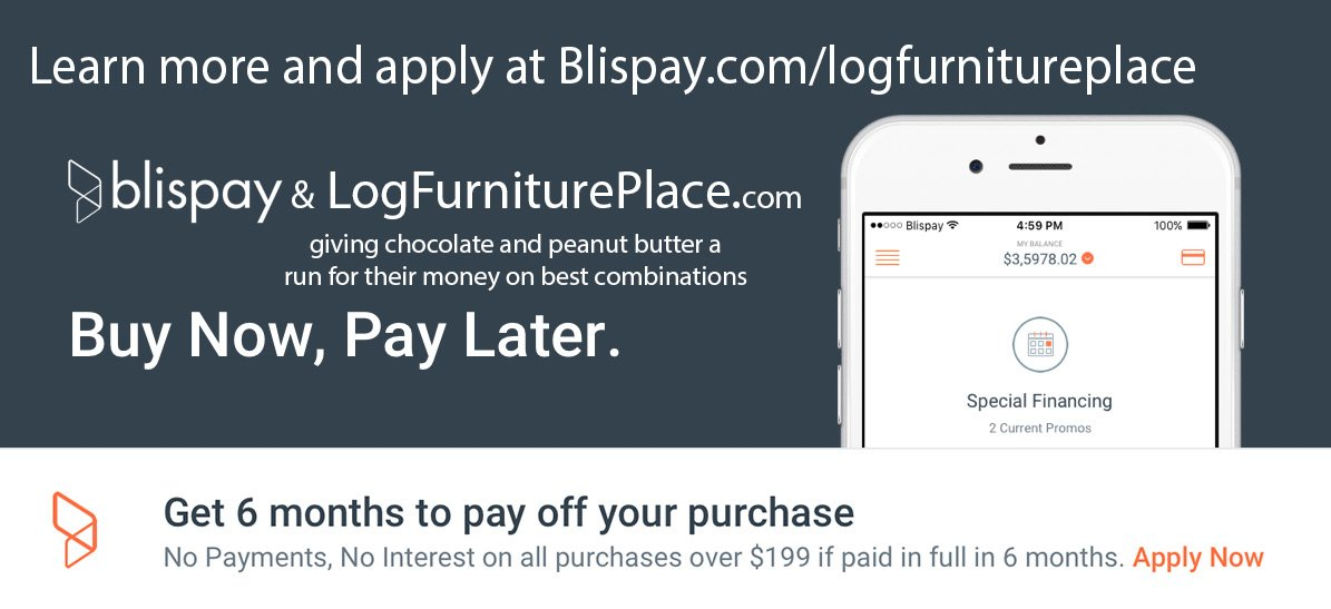 Buy Now, Pay Later For Your Rustic Furniture